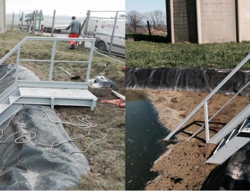Une semaine un produit : Escalier composite pour bassin de retention d'eau