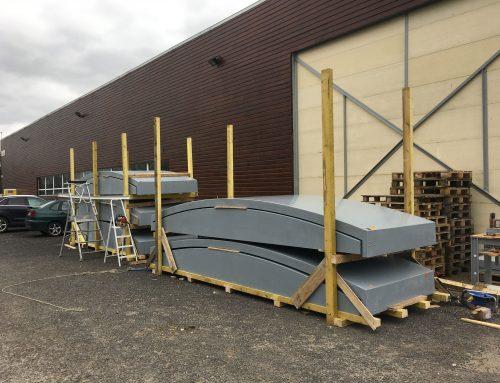 Fabrication et livraison de 36 capots en composite pour l'aménagement de bassins industriels