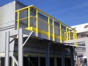 Composite-based guard-rails for industry