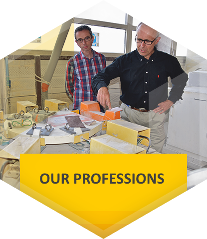 The professions of our composite-materials workshop