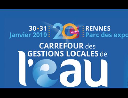 Rendez-vous les 30 et 31 janvier 2019 au Salon de l'Eau à Rennes