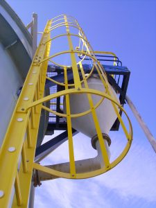 Composite-based safety ladders