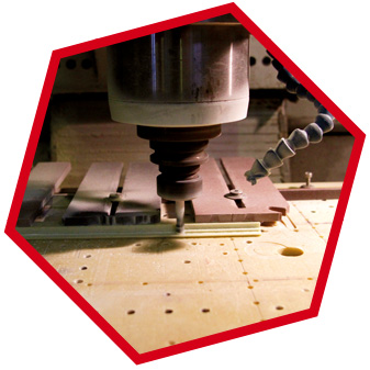 Machining composite parts for industry